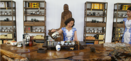 Performance of tea art